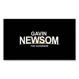 Gavin Newsom for Governor Magnetic Business Card