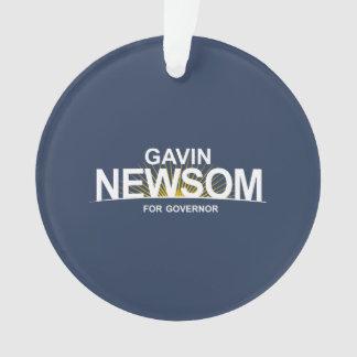 Gavin Newsom for Governor Ornament
