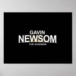 Gavin Newsom for Governor Poster