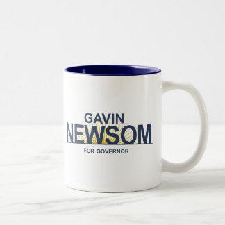 Gavin Newsom for Governor Two-Tone Coffee Mug