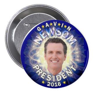 Gavin Newsom for President 2016 Pinback Button