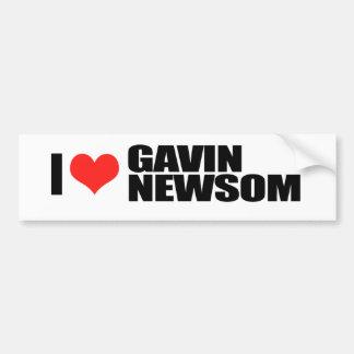 Gavin Newsom para el gobernador 1 Etiqueta De Parachoque