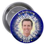 Gavin Newsom para el presidente 2016 Pin