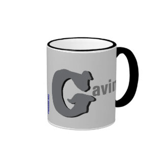 Gavin personalizó la taza conocida