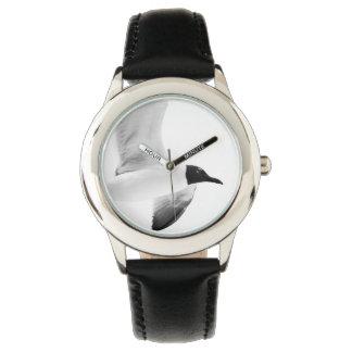 Gaviota animal del pájaro reloj de mano