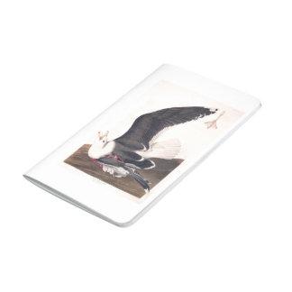 Gaviota apoyada negra de la placa 241 de Audubon Cuadernos Grapados