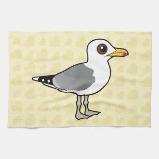 Gaviota caspia de Birdorable Toalla De Cocina