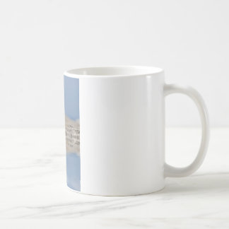 Gaviota de arenques con la reflexión grande en el taza clásica