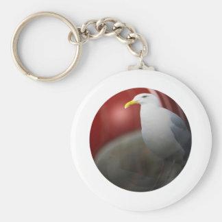 Gaviota de plata llavero redondo tipo pin