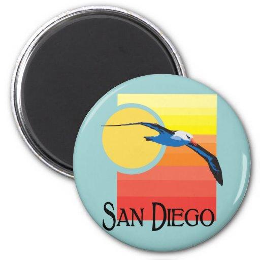 Gaviota de San Diego Imán Redondo 5 Cm