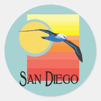 Gaviota de San Diego Pegatinas Redondas