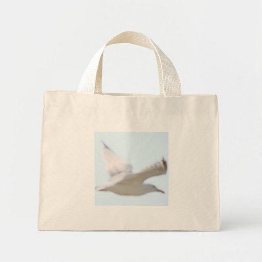 Gaviota del mar bolsa tela pequeña