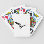 Gaviota del vuelo baraja de cartas