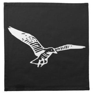 Gaviota del vuelo servilletas imprimidas
