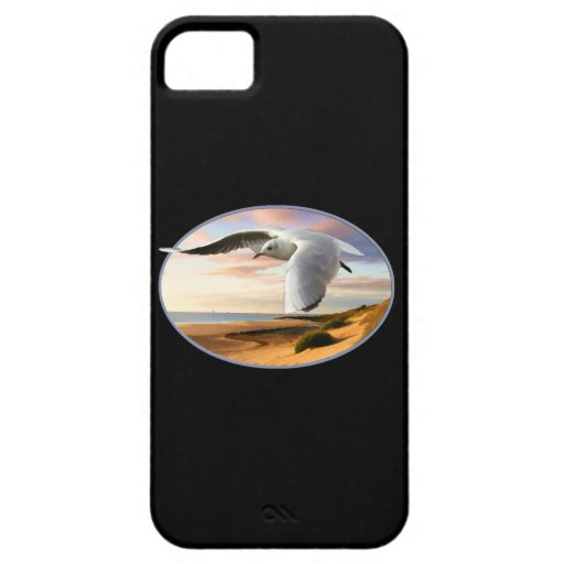 Gaviota en el ala sobre la playa iPhone 5 protector