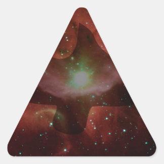 Gaviota en espacio pegatina triangular