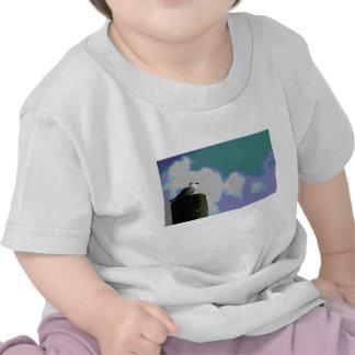 Gaviota en la fotografía posterized viruta del camisetas
