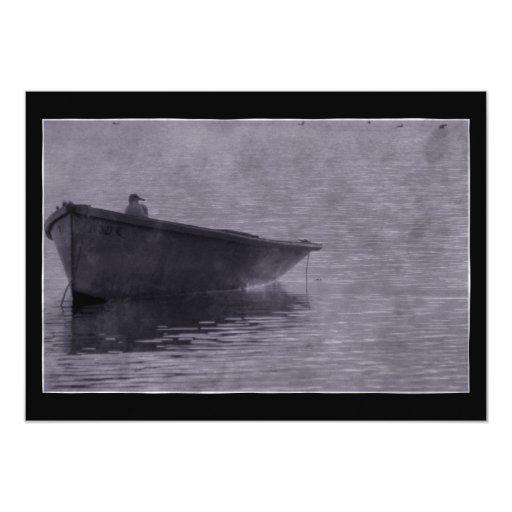 Gaviota en la niebla invitación 12,7 x 17,8 cm