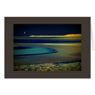 Gaviota en la playa tarjeta de felicitación
