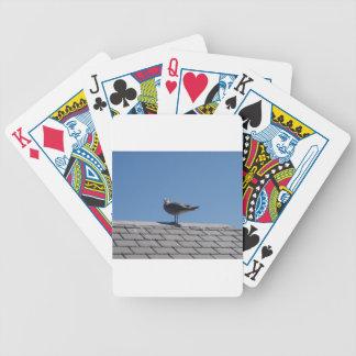 Gaviota en un tejado de pizarra cartas de juego