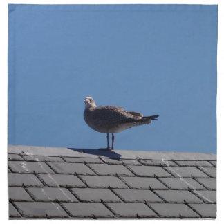 Gaviota en un tejado de pizarra servilletas