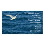 Gaviota en vuelo sobre el agua plantillas de tarjetas de visita