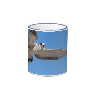 Gaviota en vuelo taza de dos colores
