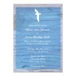 Gaviota/invitación náutica del boda de playa invitación 12,7 x 17,8 cm