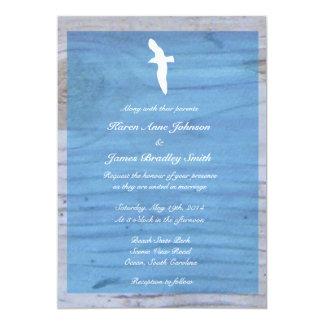 """Gaviota/invitación náutica del boda de playa invitación 5"""" x 7"""""""