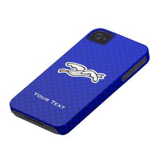 Gaviota linda; Azul iPhone 4 Case-Mate Protectores