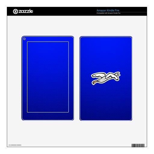 Gaviota linda; Azul Kindle Fire Pegatinas Skins