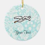 Gaviota linda del dibujo animado adorno de navidad