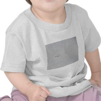 Gaviota que flota en un cielo gris camiseta