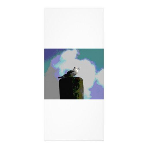 Gaviota que se sienta en una fotografía posterized lona