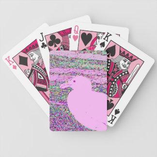 Gaviota rosada baraja cartas de poker