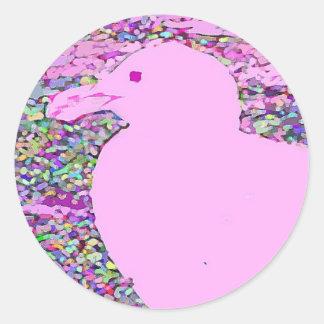 Gaviota rosada etiquetas redondas