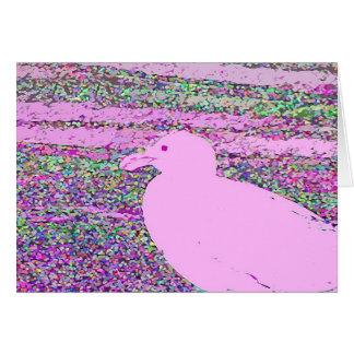Gaviota rosada tarjetas