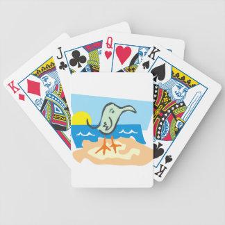 Gaviota soleada cartas de juego
