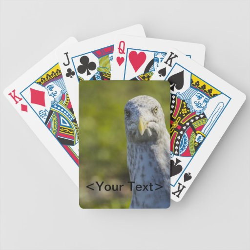 Gaviota vieja irritable (añada su propio texto) baraja de cartas