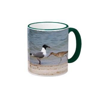Gaviota y lavandera taza de café
