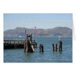 Gaviotas en el embarcadero de San Francisco Bay Tarjeta