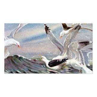 Gaviotas en el océano tarjeta de visita