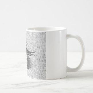 Gaviotas en la arpillera blanca taza clásica