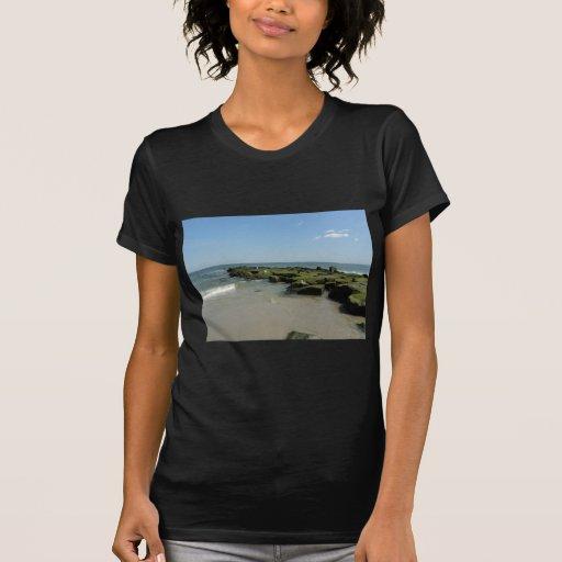 Gaviotas en rocas camiseta