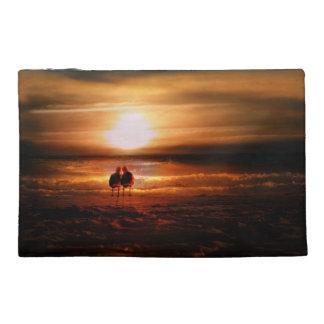 Gaviotas - Lovebirds en la puesta del sol