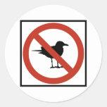 Gaviotas prohibidas pegatina redonda