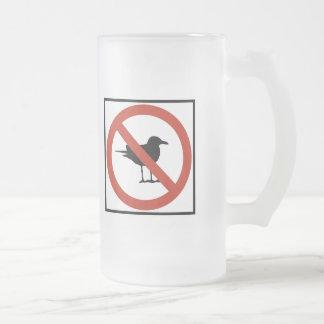 Gaviotas prohibidas taza cristal mate
