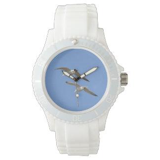 Gaviotas que vuelan arriba - relojes de pulsera