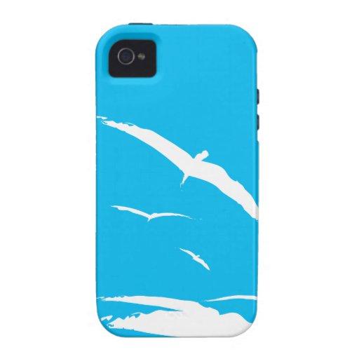 Gaviotas y ondas Case-Mate iPhone 4 carcasas