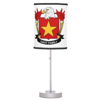 Gavit Family Crest Table Lamp